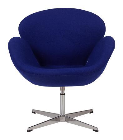 Купить Кресло Swan Chair Синяя Шерсть