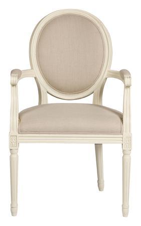 Купить Кресло Vintage French Round Кремовый Лен