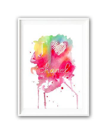 Купить Постер Люблю Шанель А4