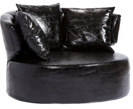 Купить Кресло Beverly Черная Экокожа