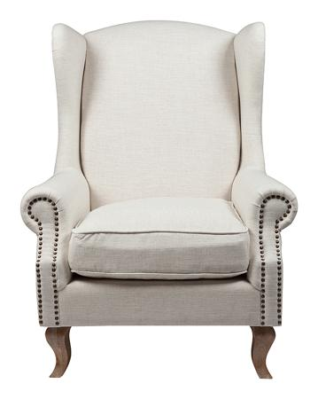 Купить Кресло Collins Wingback Chair Белый Лён