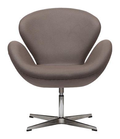 Купить Кресло Swan Chair Серо-коричневая Шерсть