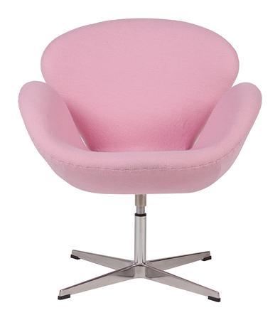 Купить Кресло Swan Chair Светло-розовая Шерсть