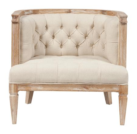 Купить Кресло Westwood Contemporary Chair Бежевый Лен