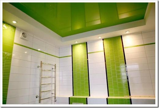 Принципы установки натяжного потолка в ванной комнате