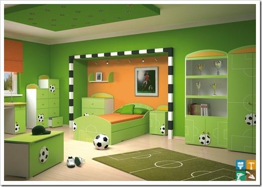 Детская комната в стиле футбола