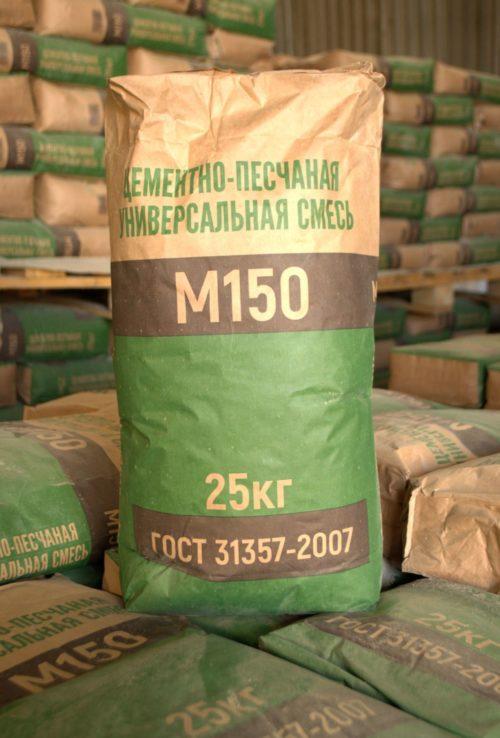 Цементно-песчаная смесь м150: характеристики